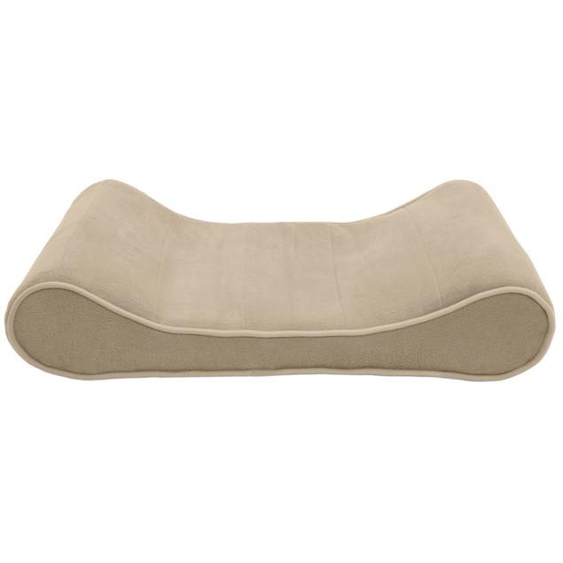 FurHaven Microvelvet Luxe Lounger Memory Top Pet Bed