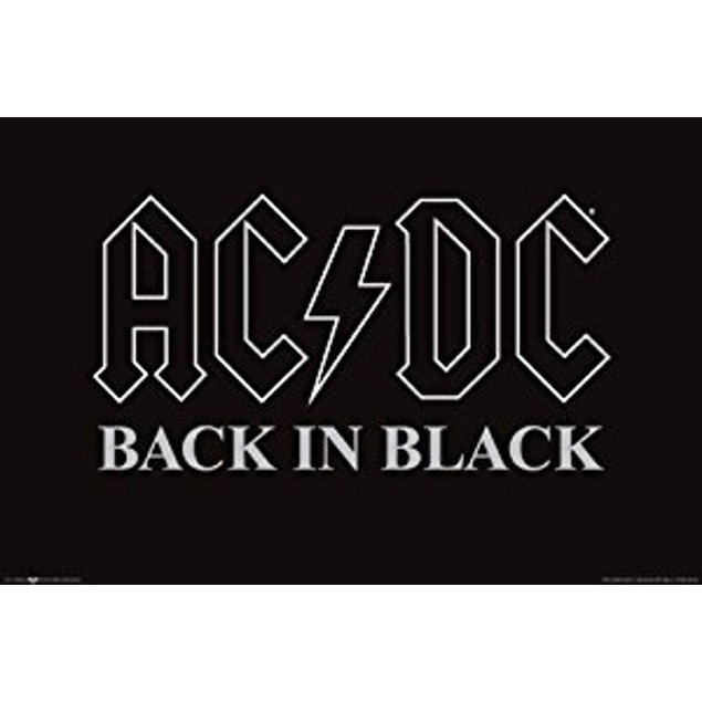 AC/DC Back In Black Poster 36 x 24 Rock AC DC ACDC Angus Young