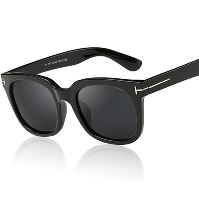 James Bond Style Square Black Sunglasses  007 Spectre Movie Costume Glasses