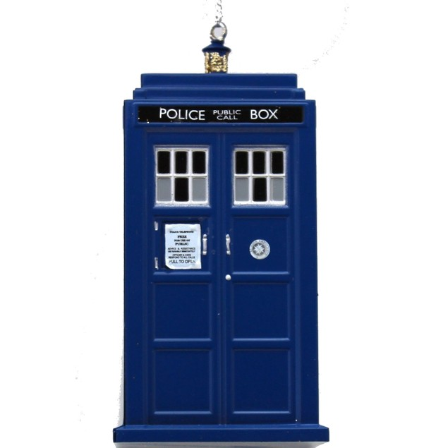 Doctor Who TARDIS Ornament Blue Box Christmas Xmas BBC TV Police Hanging