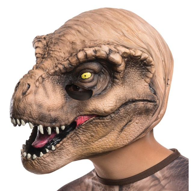Jurassic World TRex Child 3/4 Vinyl Mask Head Face Movie Boys Girls Kids