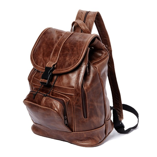 Afonie Women's Genuine Leather Backpack w/ Convertible Strap