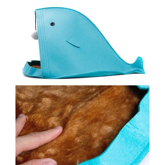 Shark Shape Dog Beds Warm Soft  Foldable Dog House