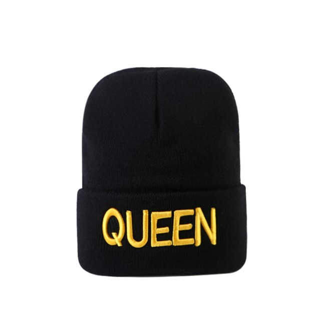 2Pcs King and Queen Lover Knitted Warm Hat