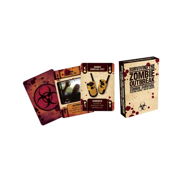 Surviving The Zombie Outbreak Playing Cards