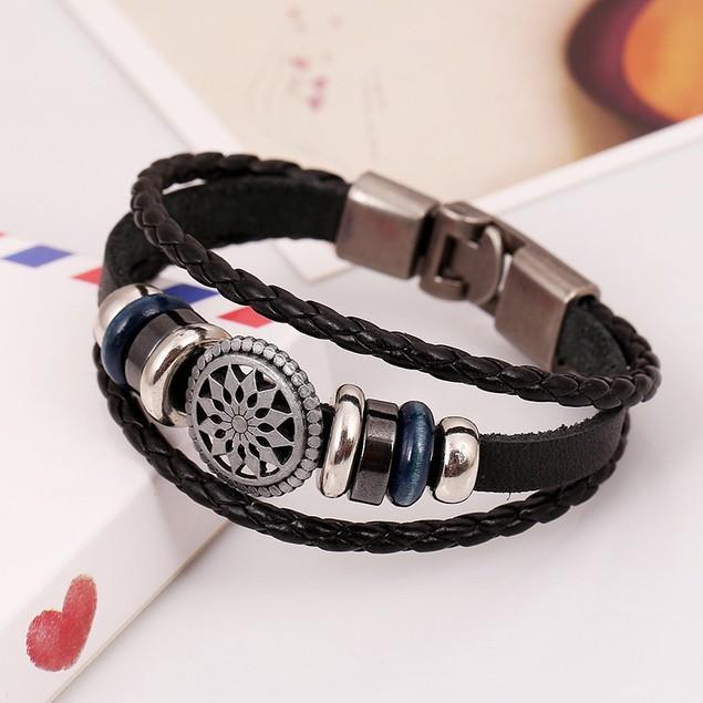 Fashion Jewelry Rhinestone Crystal Handmade Metal Beaded Bracelets