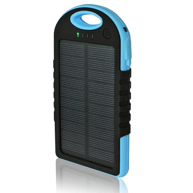 Water-Resistant Solar 5,000 mAh Power Bank for Mobile Devices