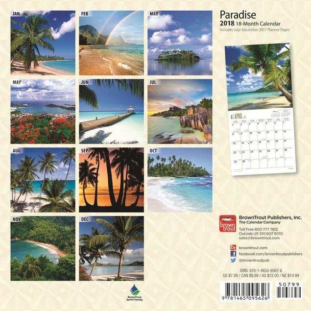 Paradise Mini Calendar, Beaches by Calendars