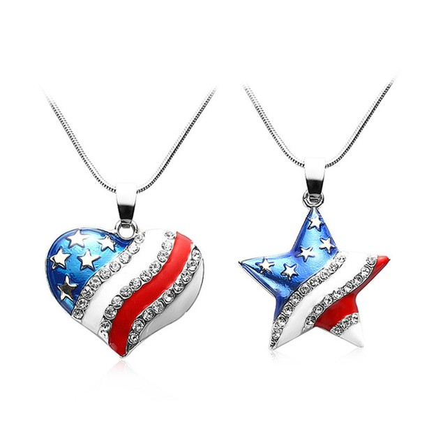 USA Star/Heart Shaped Pendant