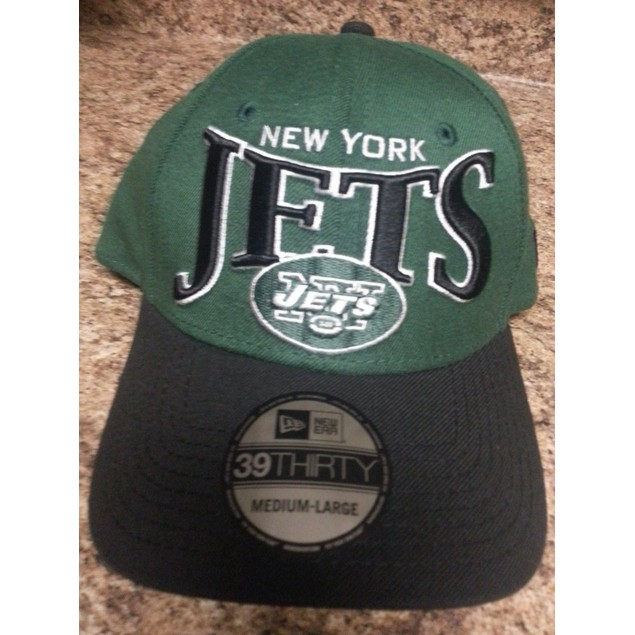 "New York Jets NFL New Era 39Thirty ""Coin Toss"" Stretch Fitted Hat"