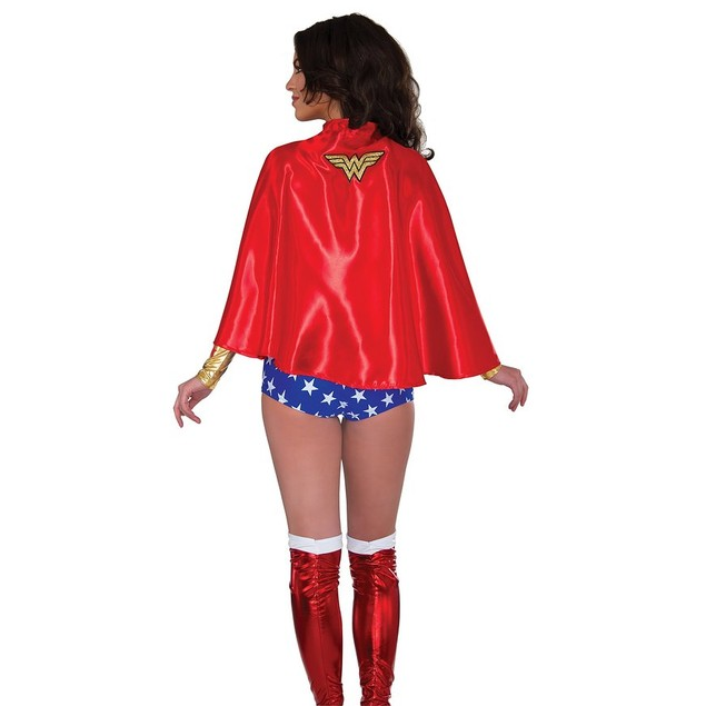 Satin Lined Wonder Woman Adult Cape
