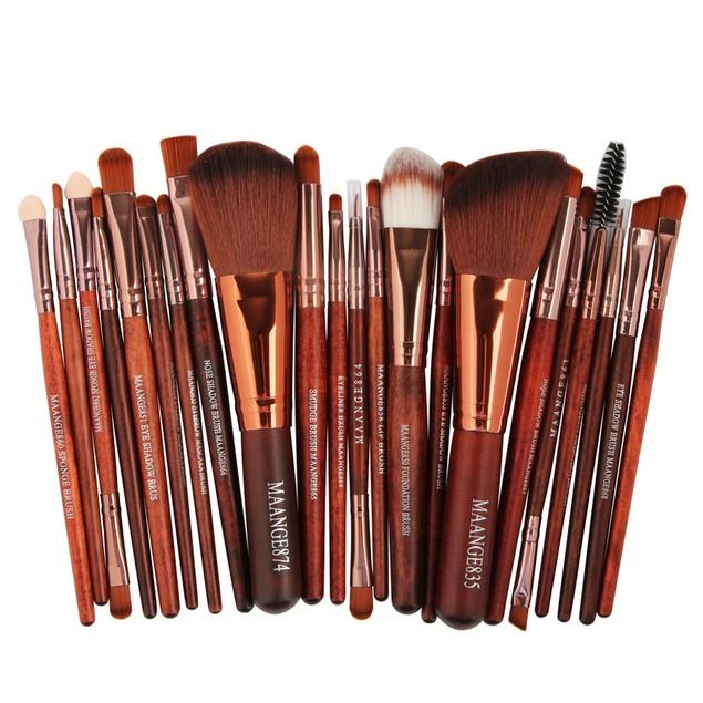22pcs Cosmetic Makeup Brush Blusher Eye Shadow Brushes Set Kit 35