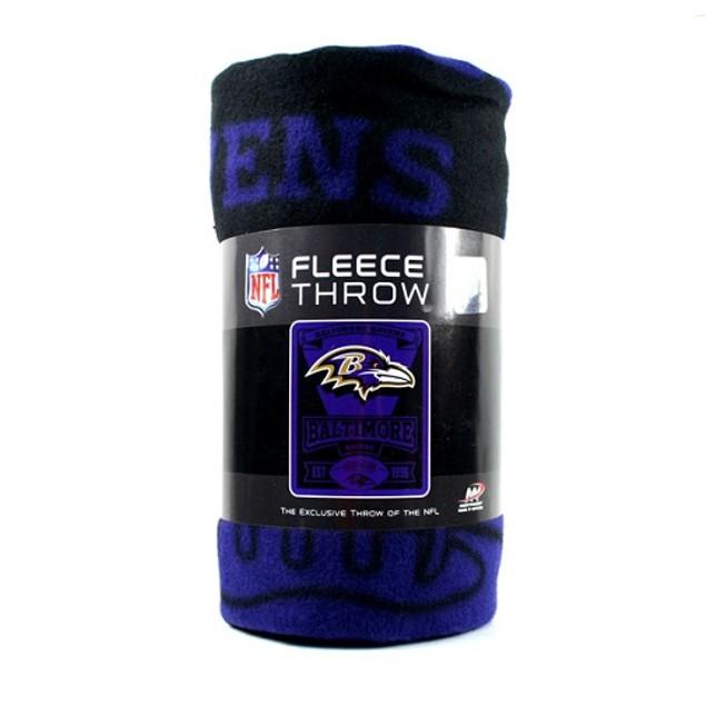 Baltimore Ravens NFL Northwest Fleece Throw