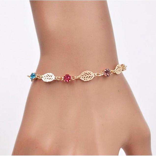 Multicolor Leaf Bracelet