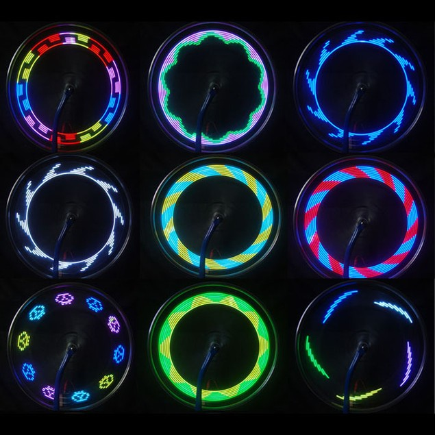 14 LED Motorcycle Bicycle Wheel Signal Tire Spoke Light 30 Changes
