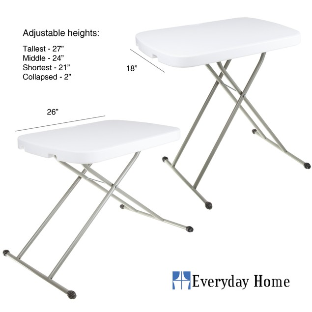 Everyday Home Folding Table - 26'' x 18 x 27