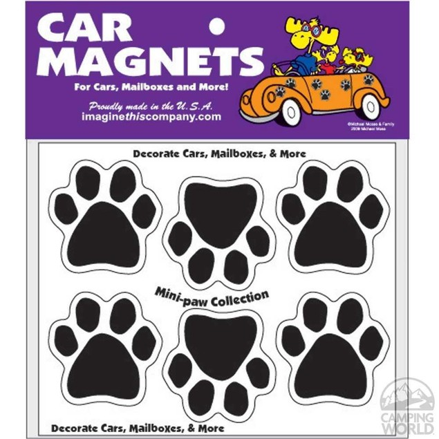 Sheet of 6 Mini-Paw Magnets