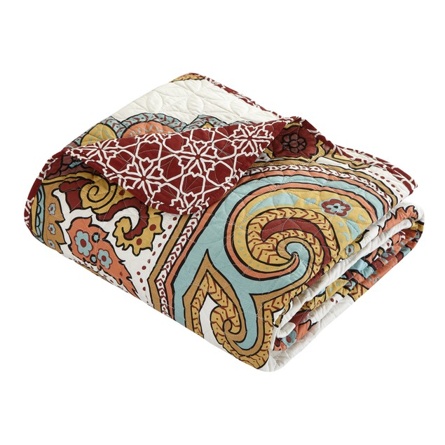 Chic Home 4 Pc. Galilahi 100%Cotton XL Frame Vintage Boho Printed Quilt Set