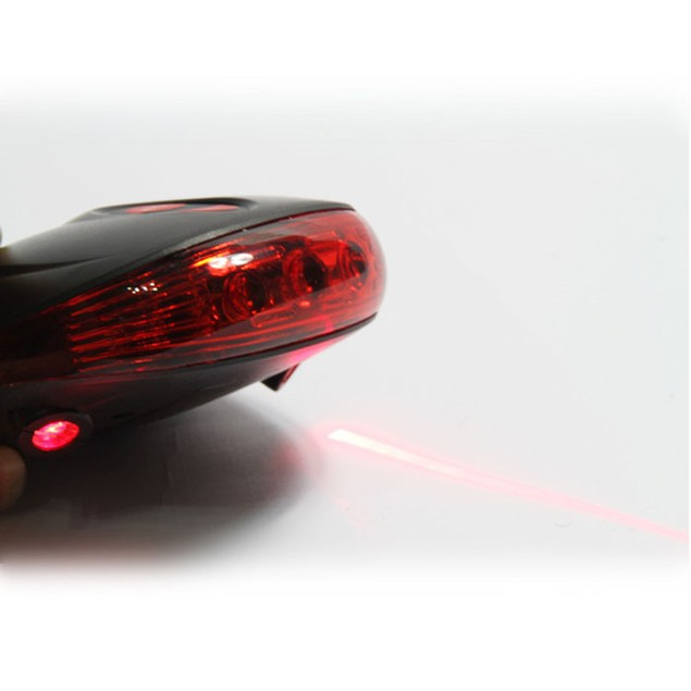 2 Bicycle Laser Projector Red Lamps Beam +3 LED Tail Lights