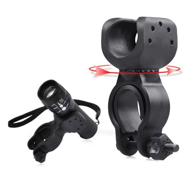 Torch Clip Mount Bicycle Front Light Bracket Flashlight Holder