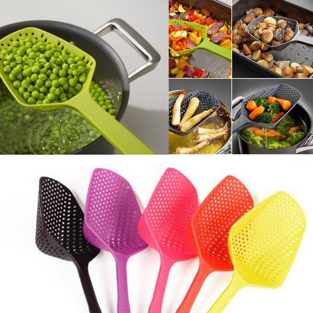 2017 Kitchen Large Scoop Colander Pasta Heat Resistant Strainer