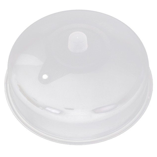 Microwave Food Cover Plate Vented Splatter Protector Clear Kitchen Lid