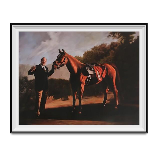 Tony Soprano And Pie-O-My Horse Painting Poster 18 x 24