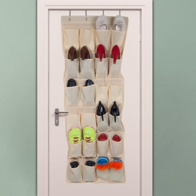 Lavish Home Over the Door Shoe Organizer - Fits 24
