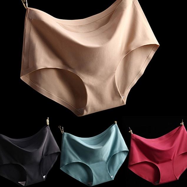 Women Fashion Sexy Pure Color Comfortable Briefs