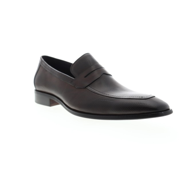 Carrucci Mens Perforated Leather Dress Shoes