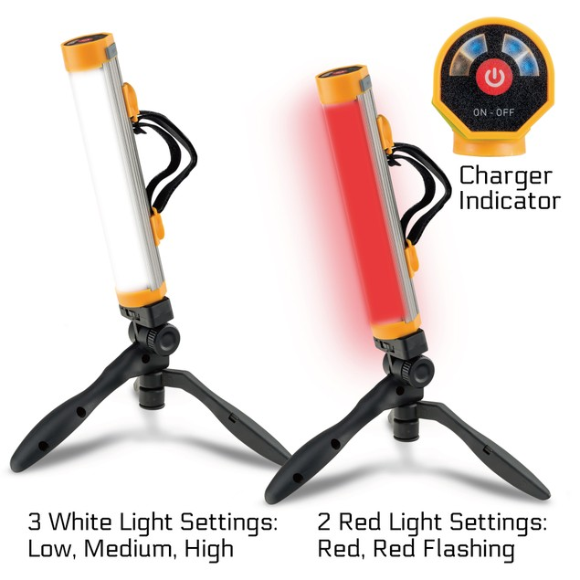 Powerglow Rechargeable 250 Lumen LED Work Light with Tripod
