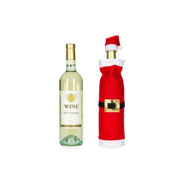 3 Pk-Santa Wine Bottle Covers
