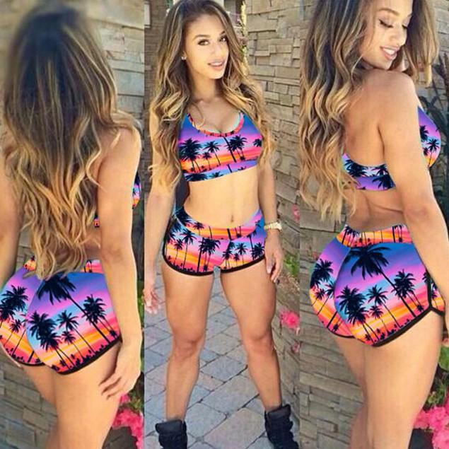 Women Push up Padded Bra Bandage Bikini Set Swimwear Bathing Suit