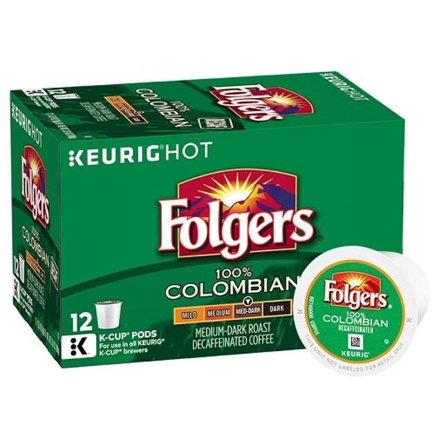 Folgers Coffee Decaf Colombian Keurig K-Cups