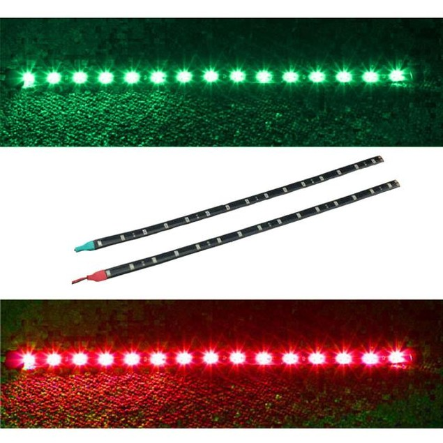 2x Boat Navigation LED Lighting RED & GREEN  Waterproof Marine LED Strips@0