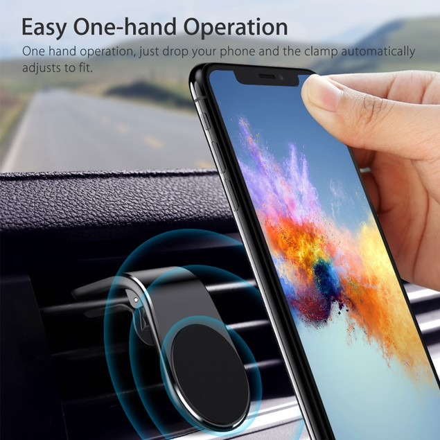 Universal Magnetic Car Air Vent Mount + FREE 3-Port Car Charger