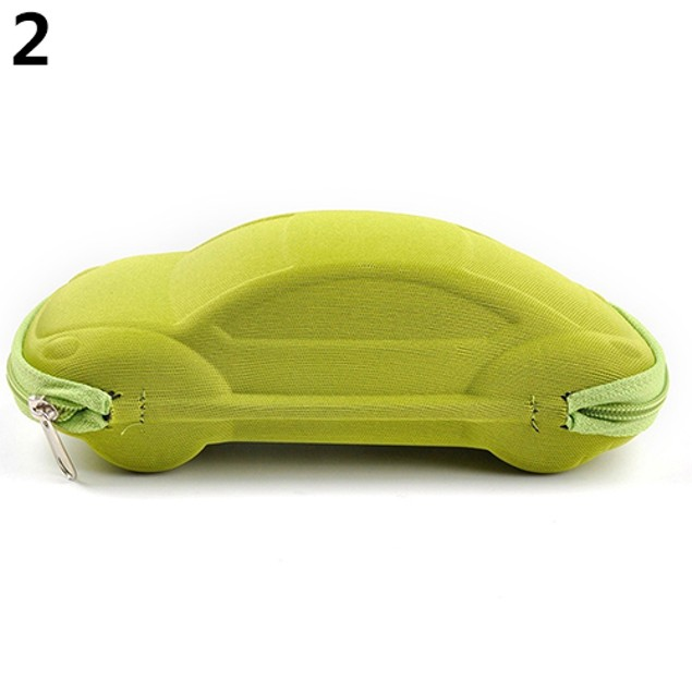Kids Children Toddler Portable Lightweight Car Shaped Glasses Case Box
