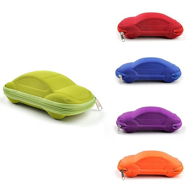 Kids Children Toddler Portable Lightweight Car Shaped Glasses Case Box
