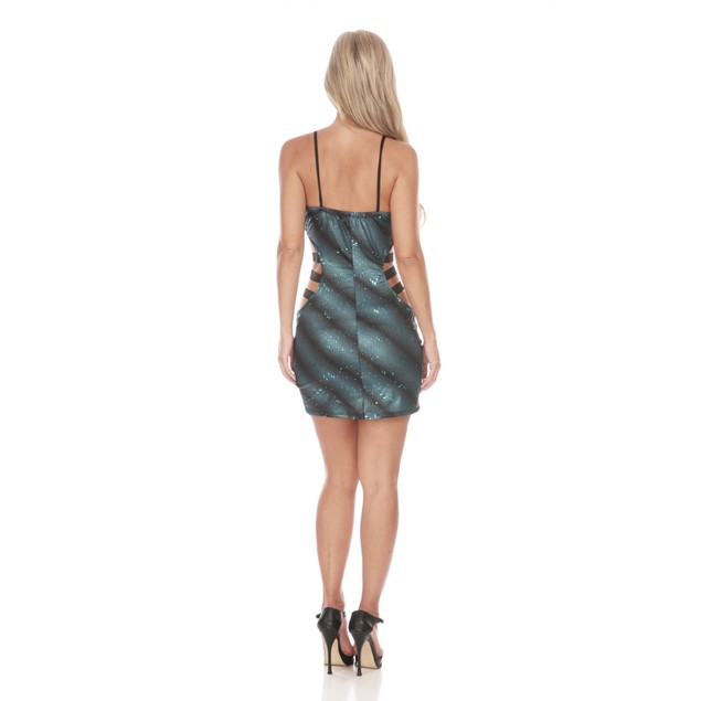 Snake Skin Cut-Out Dress