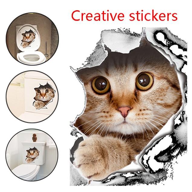 Vivid Cat Wall Cover Sticker
