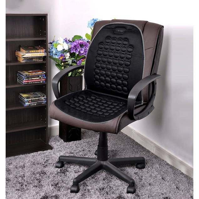 Zone Tech 2x Magnetic Bubble Padded Car Home Office Chair Seat Cushion
