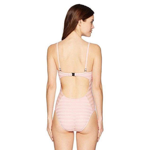 Kenneth Cole New York Women's Over The Shoulder One Piece Swimsuit  SZ