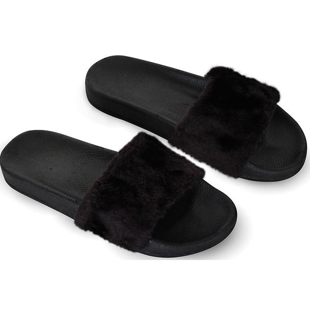 Women's Chatties Faux Fur Slip on Sandals