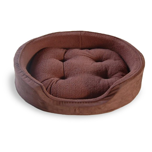 Furhaven Terry & Suede OVAL Pet Bed