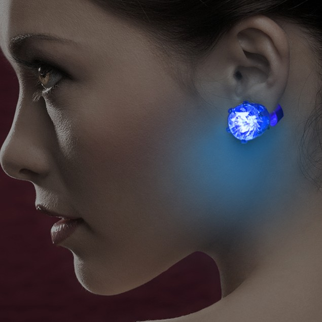 2-Pack LED Light-up Earrings