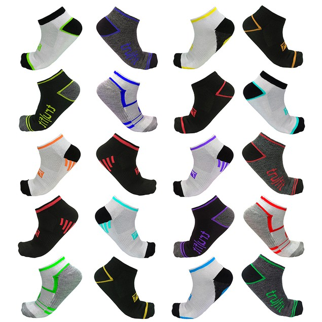 20-Pairs Mystery Deal: TruFit Men's Arch Support Low-Cut Performance Socks