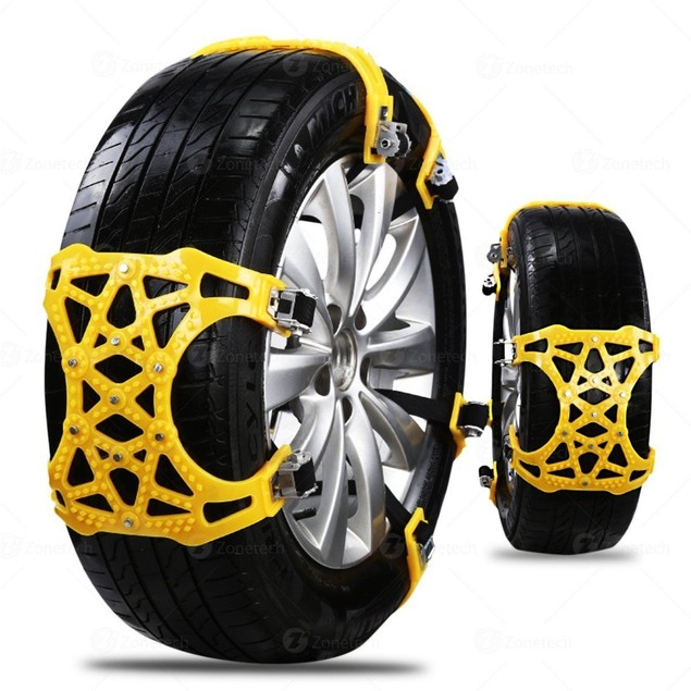6-Pack Zone Tech Car/Truck Tire Mud Chains Anti Skid Pattern Traction