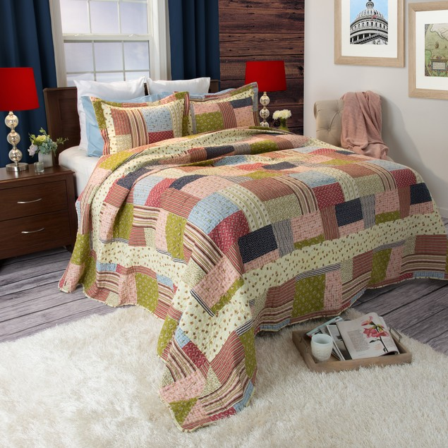 Lavish Home Savannah Quilt 3 Piece Set - Full/Queen