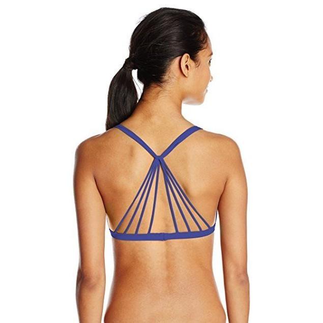 Body Glove Women's Smoothies Flare Halter Bikini Top, Midnight, SZ M
