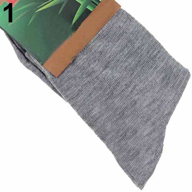 5Pairs Breathable Soft Solid Color Men Casual Socks